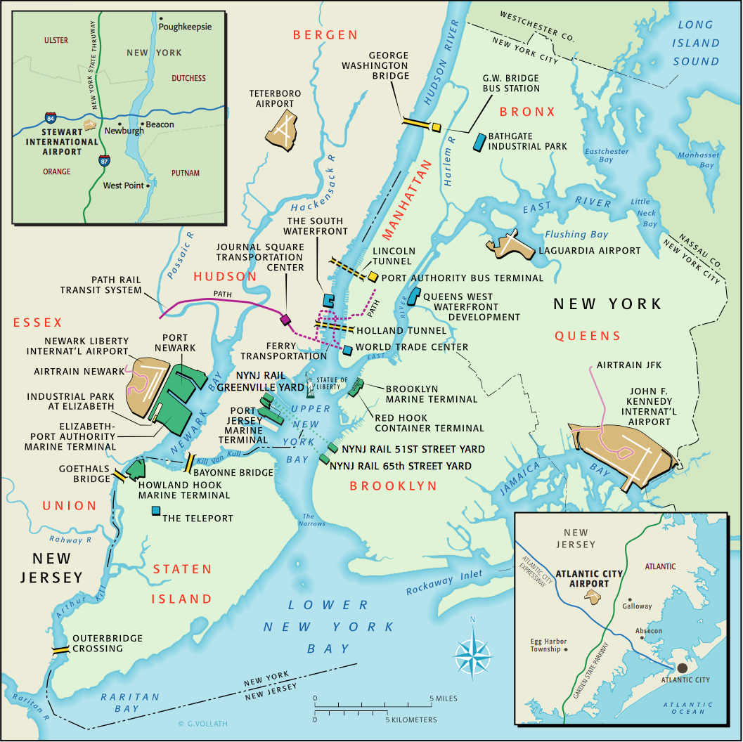 New York Harbor Terminals Port Authority Infrastructure Map C - Nyc map airports