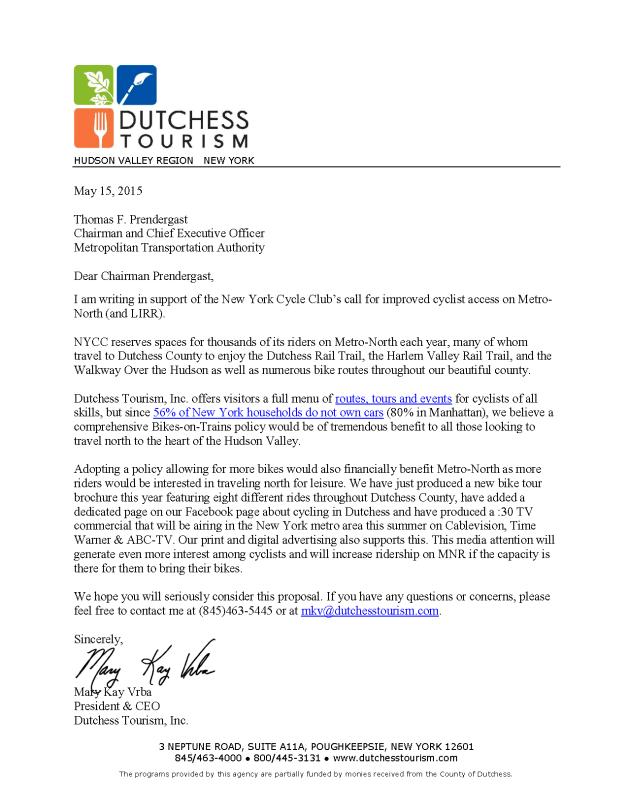 Dutchess to MTA